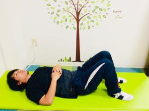 腹式呼吸の方法 画像